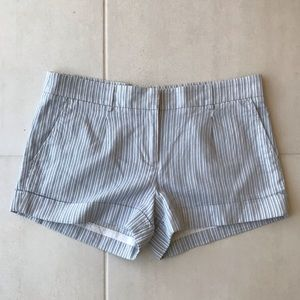 BCBG Max Azria Striped Cotton Linen Shorts